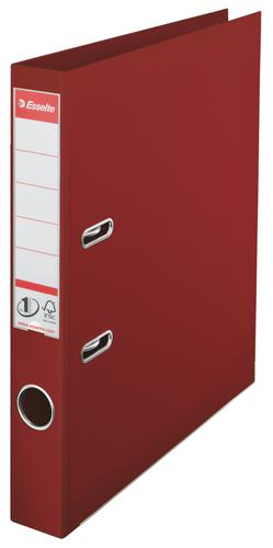 Esselte No.1 Lever Arch File Polypropylene, A4, 50 mm, Burgundy - Outer carton of 10