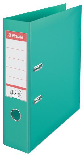 Esselte No.1 Lever Arch File Polypropylene, A4, 75 mm, Light Green - Outer carton of 10