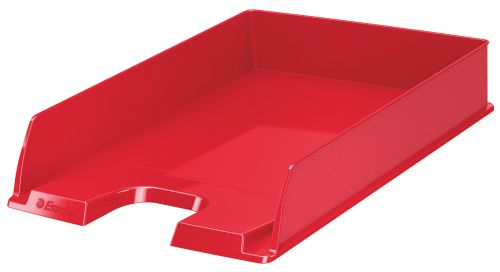 Esselte VIVIDA A4 Europost Letter Tray, Red - Outer carton of 10