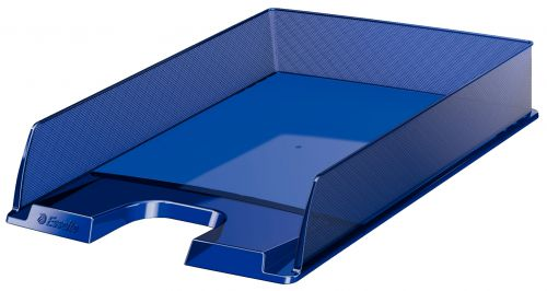 Esselte Europost A4 Letter Tray, Blue - Outer carton of 10