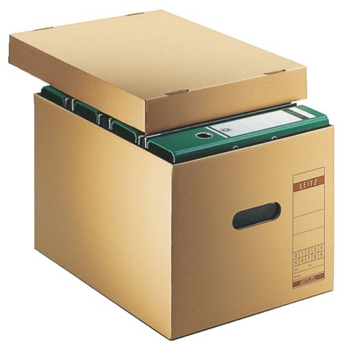 Leitz Premium Archiving and Transportation Box, 4 x 80mm - Brown - Outer carton of 10