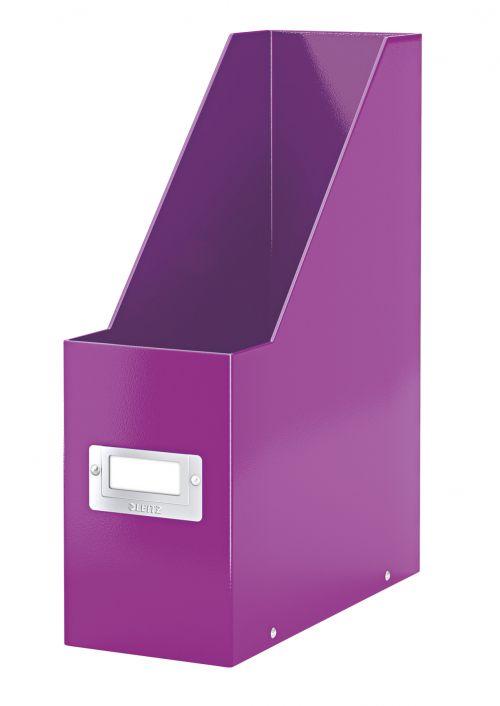 Leitz WOW Click & Store Magazine File Purple