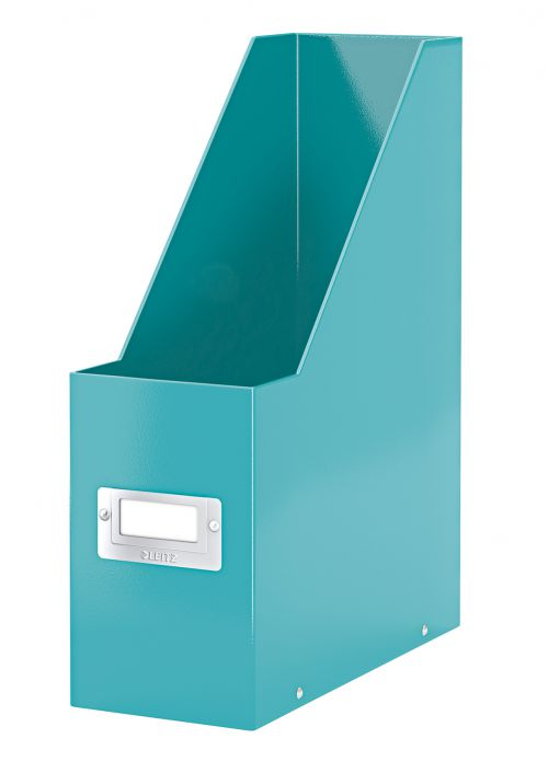Leitz WOW Click & Store Magazine File. With label holder and thumbhole. Ice Blue.