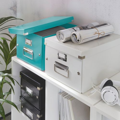 Leitz WOW Click and Store Box Medium Ice Blue 60440051 LZ10379