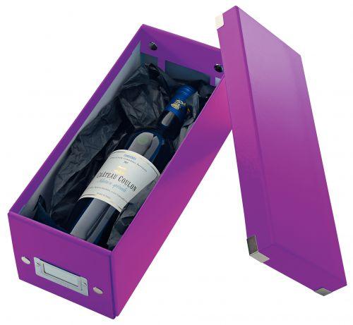 Leitz Click & Store CD Storage Box Purple CD/DVD Storage 22796ES