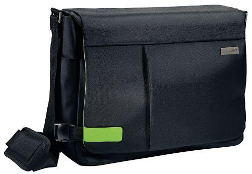 """Leitz Complete 15.6"""" Messenger Bag Smart Traveller Black"""