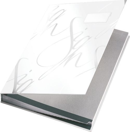 Leitz Design Signature Book with 18 Card Dividers A4 - White