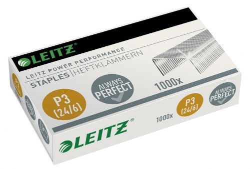Leitz Power Performance P3 Staples 24/6, perfect stapling results for up to 30 sheets (1,000)