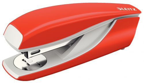 Leitz NeXXt Series Metal Office Stapler Light Red