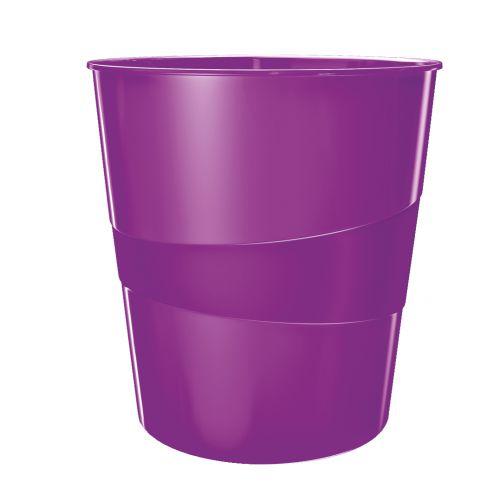 Leitz WOW Waste Bin 15 litre Purple