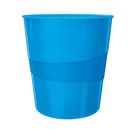 Leitz WOW Waste Bin 15 litre Blue Metallic
