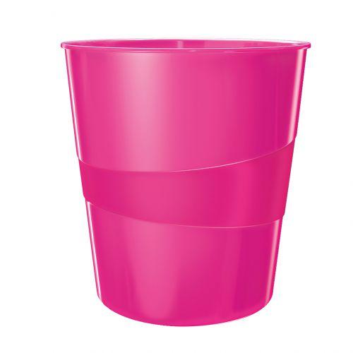 Leitz WOW Waste Bin 15 litre Pink Metallic
