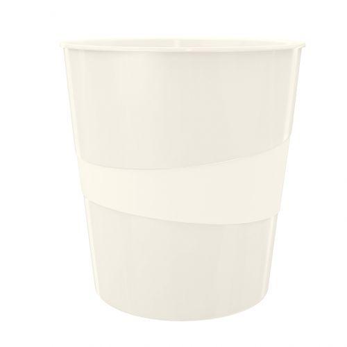 Leitz WOW Waste Bin 15 litre Pearl White