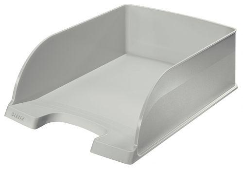 Leitz Plus Jumbo Letter Tray A4 - Grey - Outer carton of 4