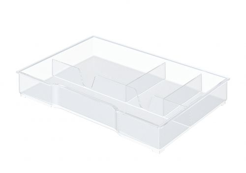 Leitz Organiser Tray for Plus and WOW Drawer Cabinets - Transparent - Outer carton of 6
