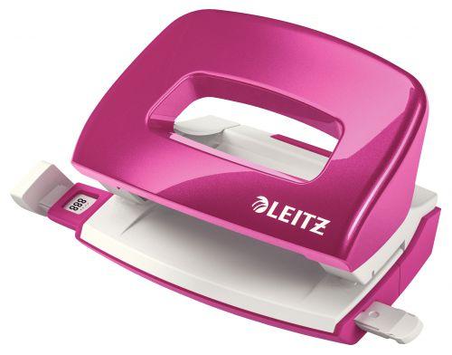 Leitz NeXXt WOW Metal Mini Hole Punch - Metallic Pink