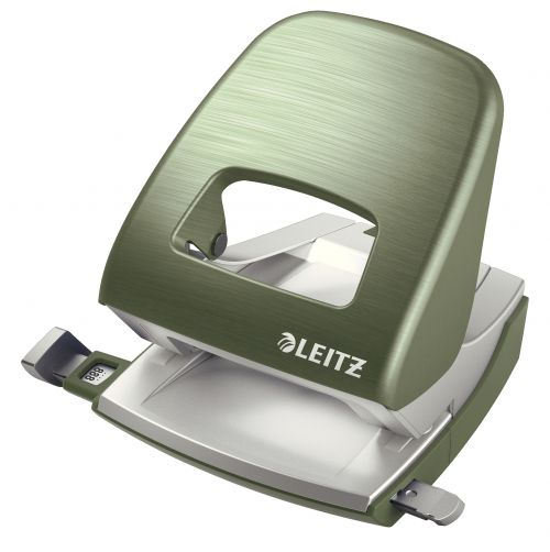 Leitz NeXXt Style Metal Office Hole Punch - Celadon Green