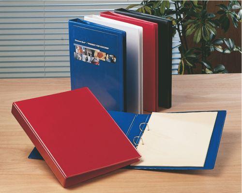 Esselte Essentials Presentation Ring Binder Polypropylene 2 D-Ring A4 25mm Rings Red (Pack 10) 49727