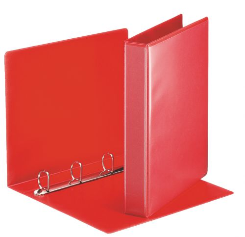 Esselte Essentials Presentation Ring Binder Polypropylene 4 D-Ring A4 30mm Rings Red (Pack 10) 49713
