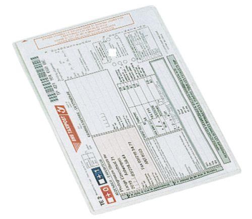 Esselte A5 Plastic Card Holders Glass Clear Portrait (Box 100)