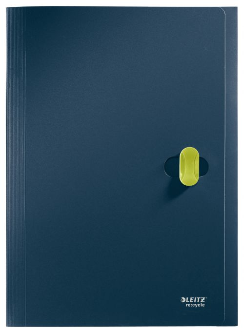Leitz Re:cycle Project File Polypropylene A4 Dark Blue - Outer carton of 5