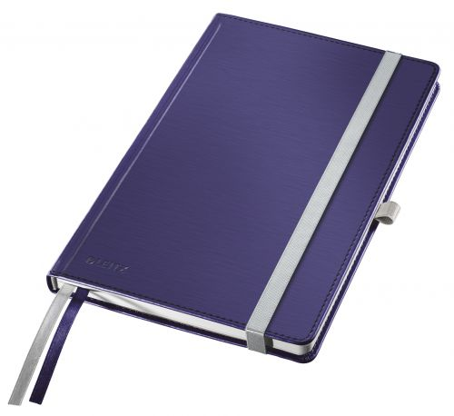 Leitz Style Notebook Hard Cover A5 ruled  titan blue - Outer carton of 5