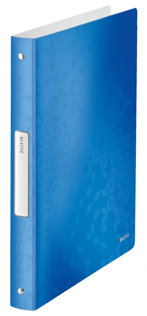 Leitz WOW Ring Binder Polypropylene 4 O-Ring A4 25mm Rings Blue Metallic (Pack 10) 42580036