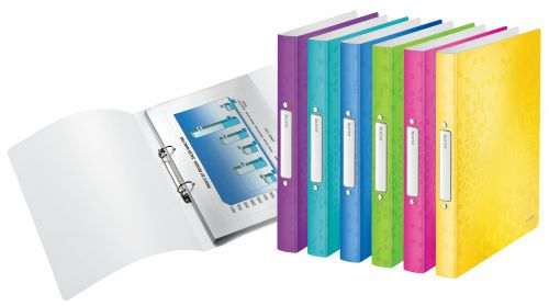Leitz WOW 2-O Ringbinder A4 PP 25mm Assorted PK12