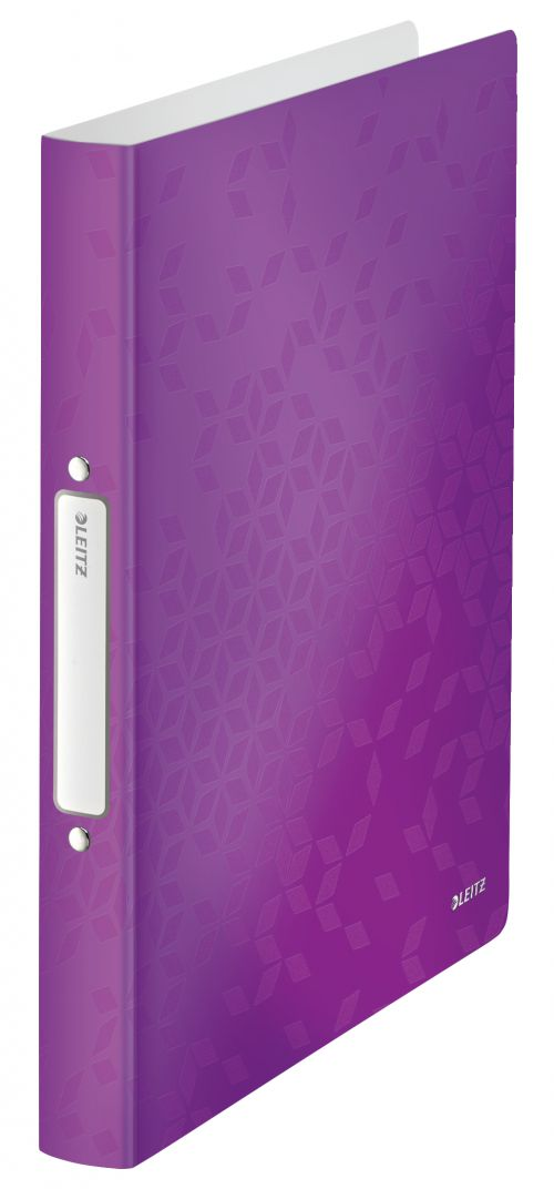 Leitz WOW Ring Binder Polypropylene 2 O-Ring A4 25mm Rings Purple (Pack 10)