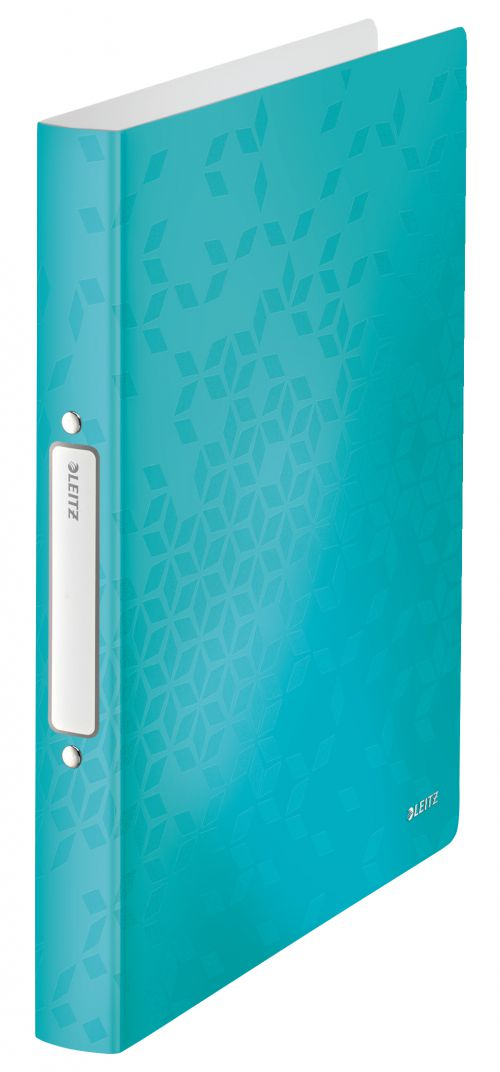 Leitz WOW 2-O Ringbinder A4 PP 25mm Ice Blue PK10