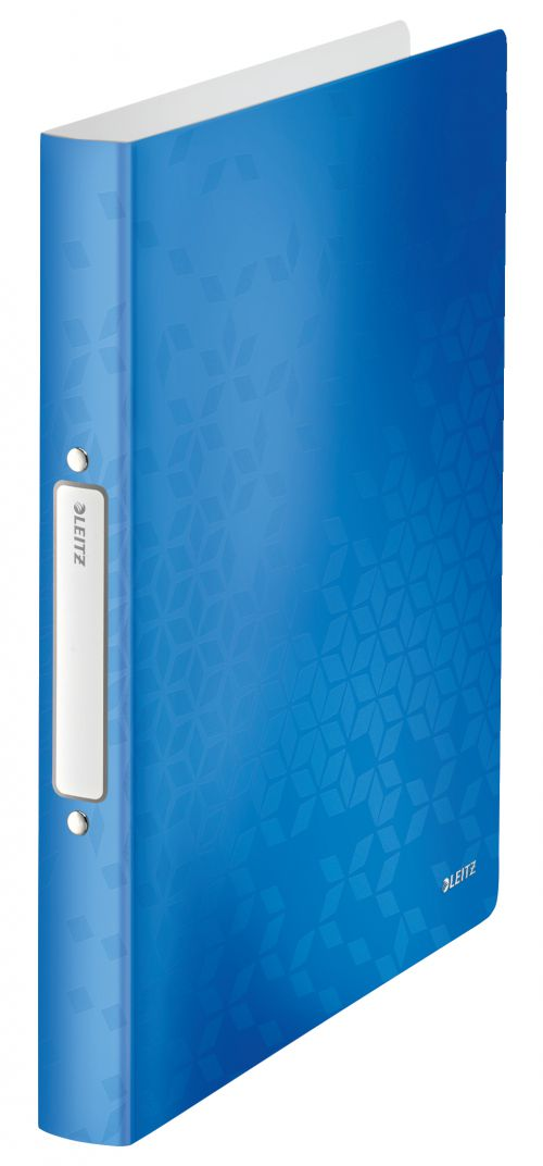 Leitz WOW 2-O Ringbinder A4 PP 25mm Blue Metallic PK10