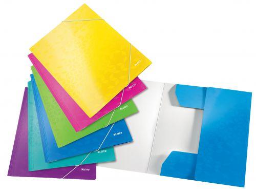 Leitz WOW 3 Flap Folder A4 Assorted (Pack 6)