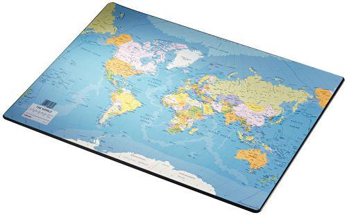 Esselte Europost Range World Map Desk Mat 40x53cm - Outer carton of 10