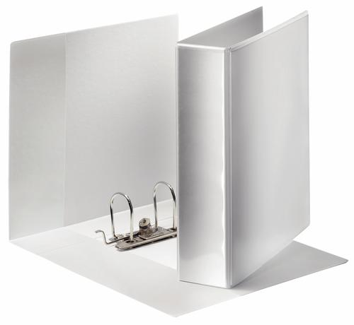 Esselte Presentation Lever Arch File A4 maxi, 75mm, 3 outside pockets, White - Outer carton of 20