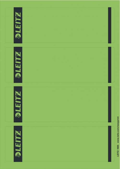 Leitz Printable Spine Labels for Standard Lever Arch Files - Green (Pack of 100)