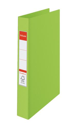 Esselte VIVIDA Ring Binder A4, Polypropylene, 25 mm, 4 Round Ring mechanism, VIVIDA Green - Outer carton of 10