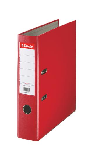 Esselte Essentials Lever Arch File Polypropylene A4 75mm Red - Outer carton of 20