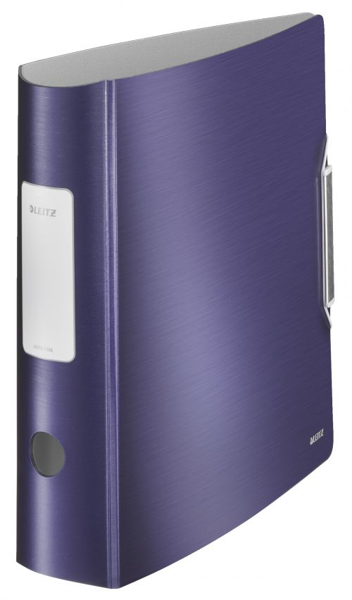 Leitz 180 Active Style Lever Arch File Polypropylene A4 80mm Spine Width Titan Blue (Pack 5)