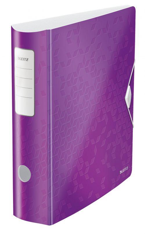 Leitz Active WOW 180deg Lever Arch File A4 80mm Purple 11060062
