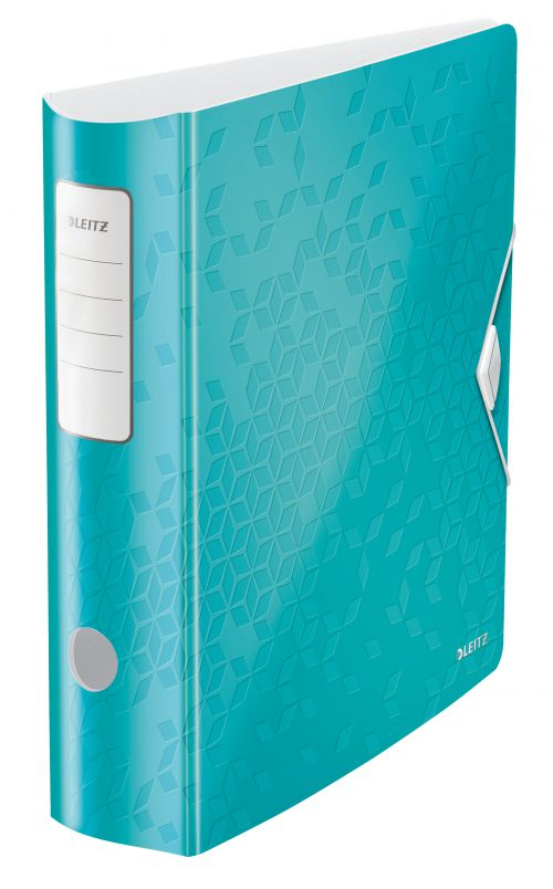 Leitz Active WOW 180deg Lever Arch File A4 80mm Ice Blue 11060051