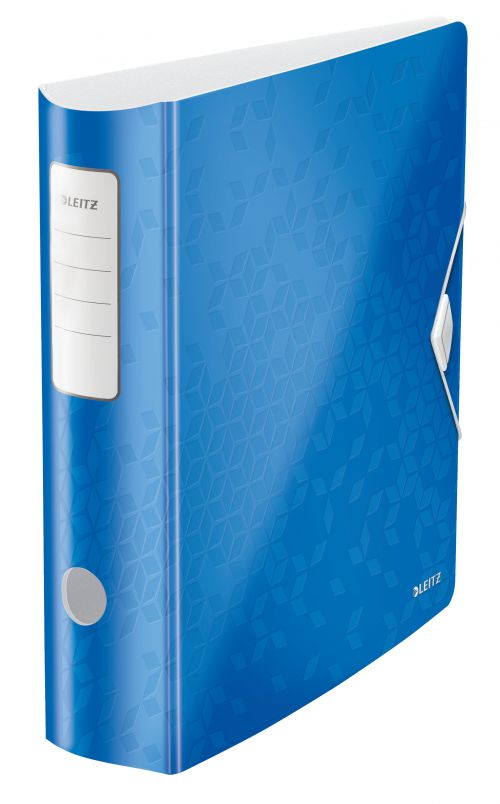Leitz Active WOW 180deg Lever Arch File A4 80mm Blue 11060036
