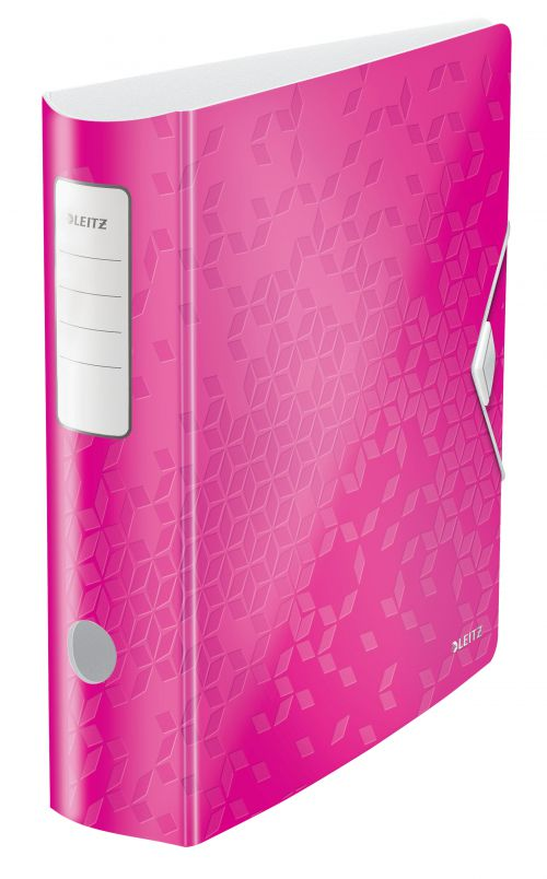 Leitz Active WOW 180deg Lever Arch File A4 80mm Pink 11060023