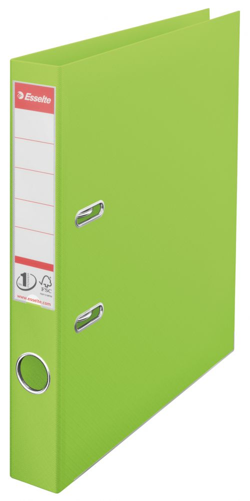 Esselte VIVIDA A4 50mm Spine Plastic Lever Arch File - Green - Outer carton of 10