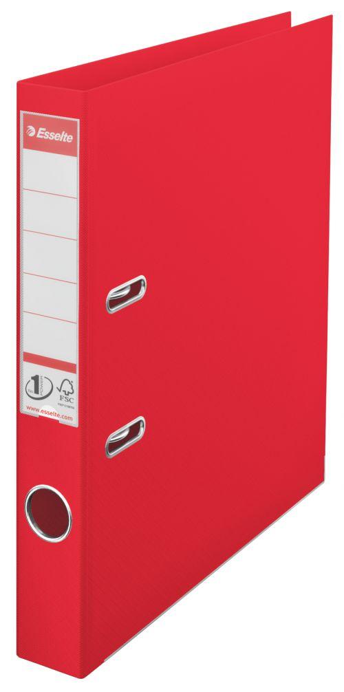Esselte No.1 VIVIDA Lever Arch File PP A4 50mm Red PK10