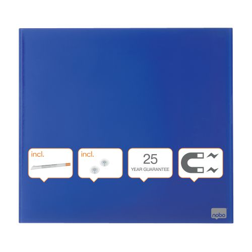 Nobo Diamond Drywipe Board Magnetic 300x300mm Blue