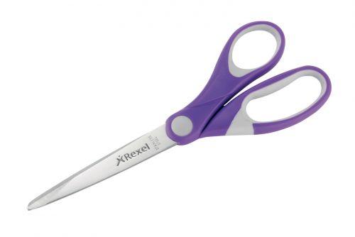 Rexel JOY Comfort Scissors 182mm Purple