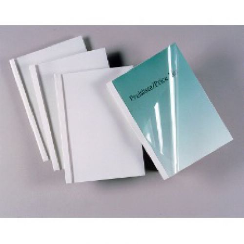 GBC Thermal Covers 6mm White Pack 25