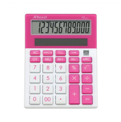 Rexel JOY Calculator Pretty Pink