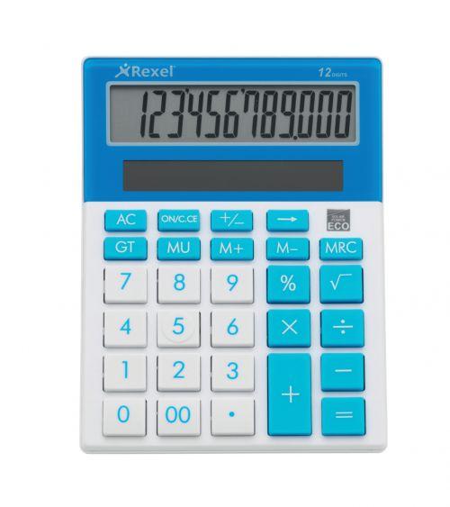 Rexel JOY Desktop Calculator Blue