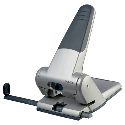 Leitz Heavy Duty 2 Hole Punch Silver 65 Sheets